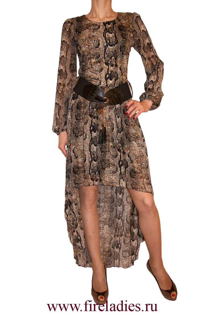 Оригинальное платье, ассиметричное, змеиное платье SENSI LINE или платье питон