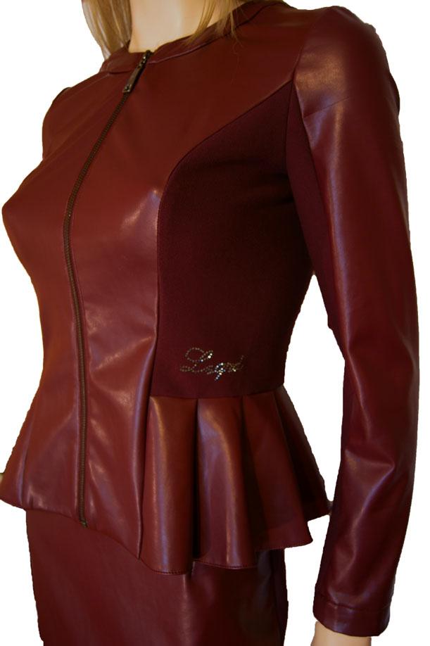 Купить кожаный женский костюм с доставкой