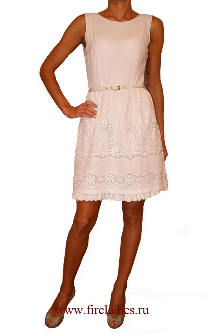 Платье Белое Хлопковое Купить
