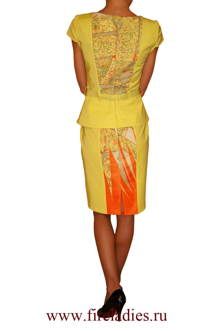 Желтое платье доставка