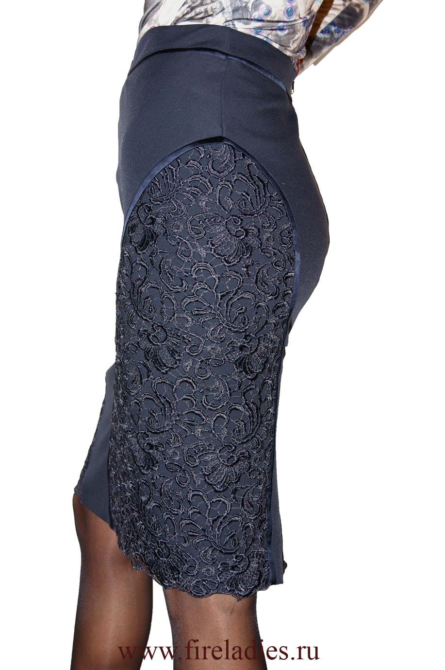 Синяя юбка с доставкой